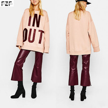 New arrival winter women wine red faux leather flare pants