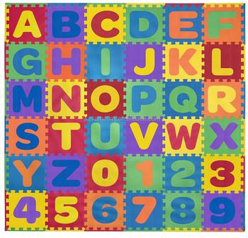Eva Kids Foam Play Alphabet Abc Numbers Puzzle Mat 36 Pieces 24 Border Edges Buy Baby Puzzle Play Mat Interlocking Foam Play Puzzle Floor