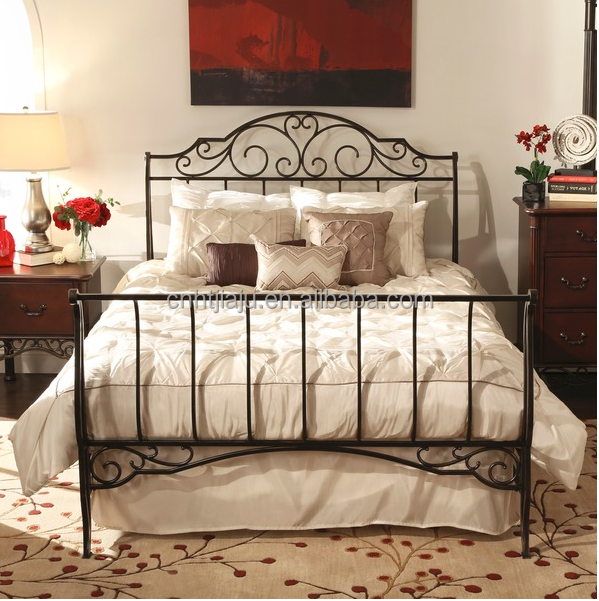 popular sturdy metal sleigh bed new design double bed metal double rh alibaba com