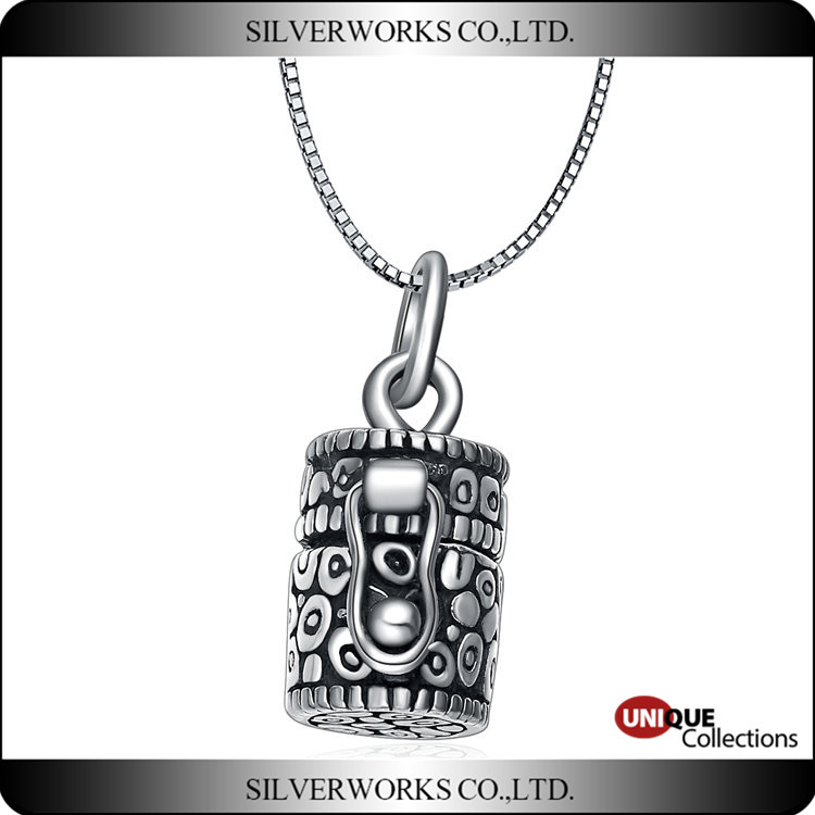 Thai silver pendant with buckle Wholesale band locket Antique silver box Pendant
