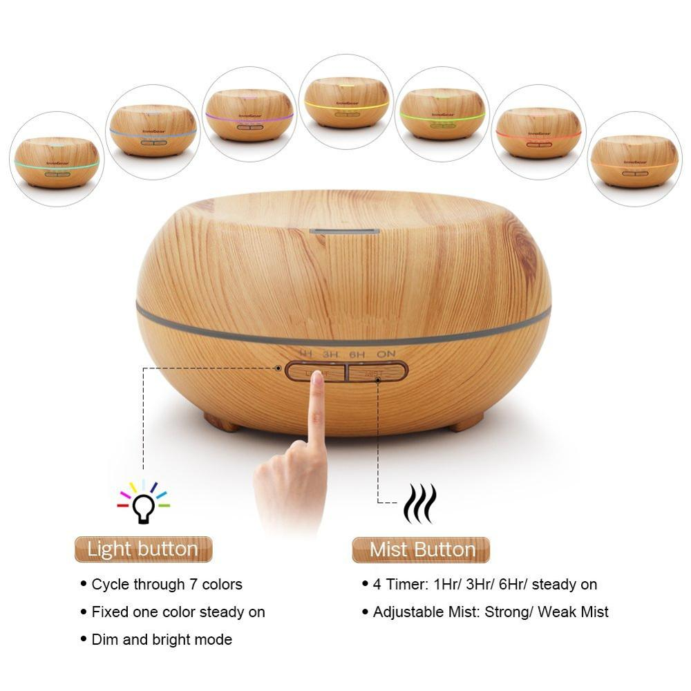 Electric Aroma Mist Air Diffuser, Made of Wood, OEM Orders are Welcome
