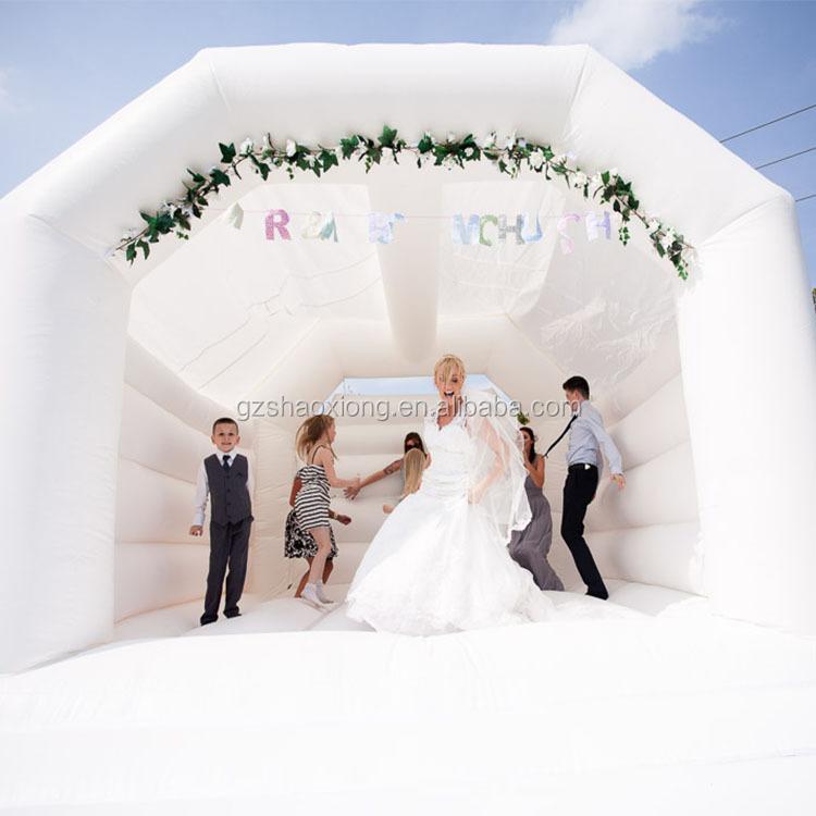 Decorazione di nozze Foto Tempo Gonfiabile per Uso Professionale Bianco Castello Castelli Gonfiabili Bouncer Rimbalzo Casa di Rimbalzo Per La Vendita
