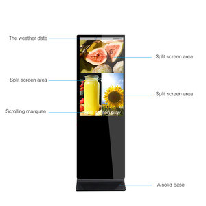 Office display board photo booth TFT Indoor store touch screen kiosk case with camera