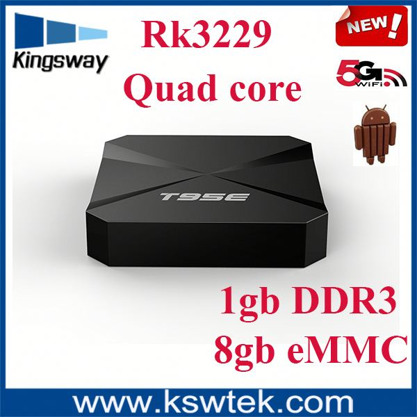 Kingsway Digital TV BOX T95E rk3399 android tv box with kodi, support OEM
