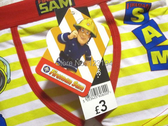 NEW ARRIVAL FIREMAN SAM boxer brief for boys cartoon cotton panties yellow 1pc pack FREE SHIPPING