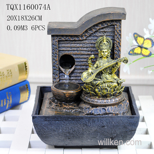 Indian Religious Diwali Gifts Mini-Fountain Interior Decoration