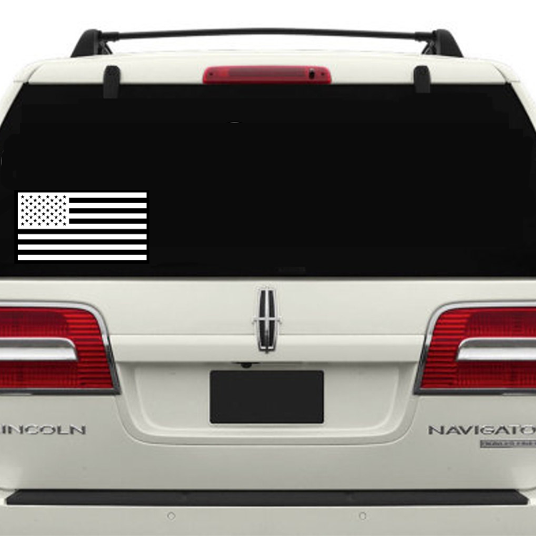 Custom Usa Flag Sticker Vinyl Car Bumper Decal Outdoor United States  America Die Cut - Buy Die Cut Transfer Stickers,Custom Rub On Transfer