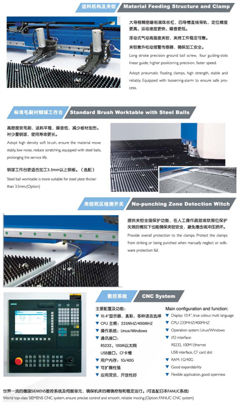 Hot sales ISO9001 CE CNC control system 32 punching station amada technology support hydraulic cnc turret punch