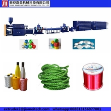 pp rope production line/ PE monofilament twist rope making machine/plastic round split film twine making production