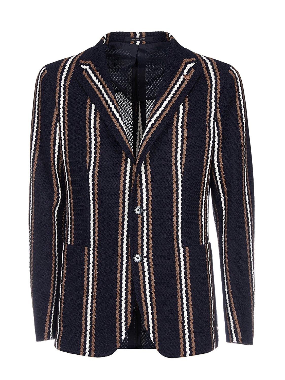 TAGLIATORE Men's 1SMJ22K57YEJ109B1229 Blue Cotton Blazer