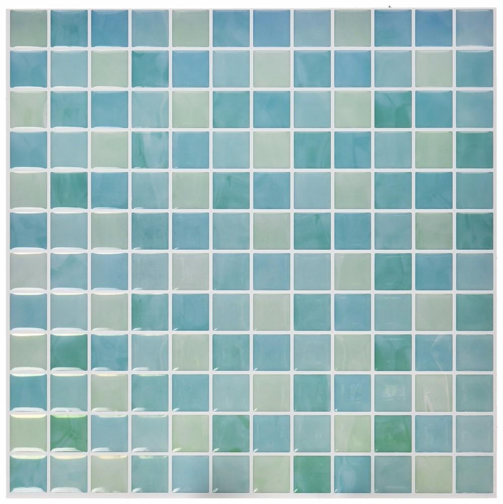 3d art 10 x 10 azulejos de mosaico de pared autoadhesivas pegatinas para piscina decoraci n de - Pegatinas para azulejos ...