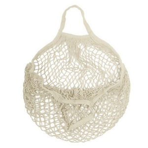 Recycled shopping vegetable 100% cotton fabric mesh string net produce bag
