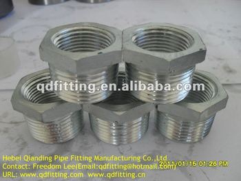 ANSI ASME B16.11 ASTM A105 NPT Threaded Hex. Head Bushing