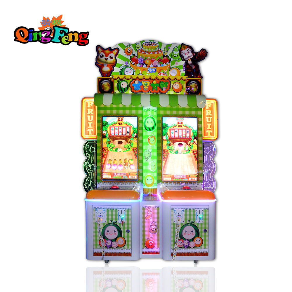 Qingfeng indoor coin operated  fruit game machine kids lottery ticket game machine