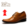 High quality genuine leather height increasing elevator shoes