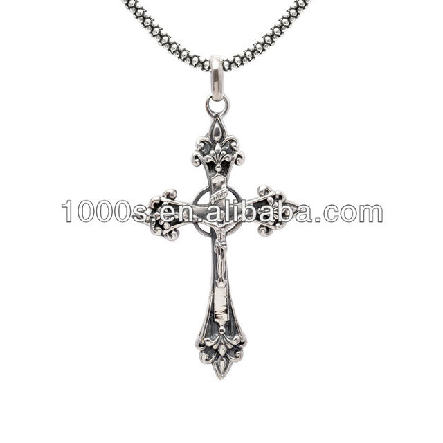 Buy cheap china antique silver cross pendants products find china antique silver jesus christ cross pendant for christmas gift aloadofball Image collections