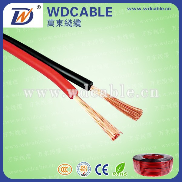 electrical cable wire,colored speaker cable,flat white good price high end speaker cable