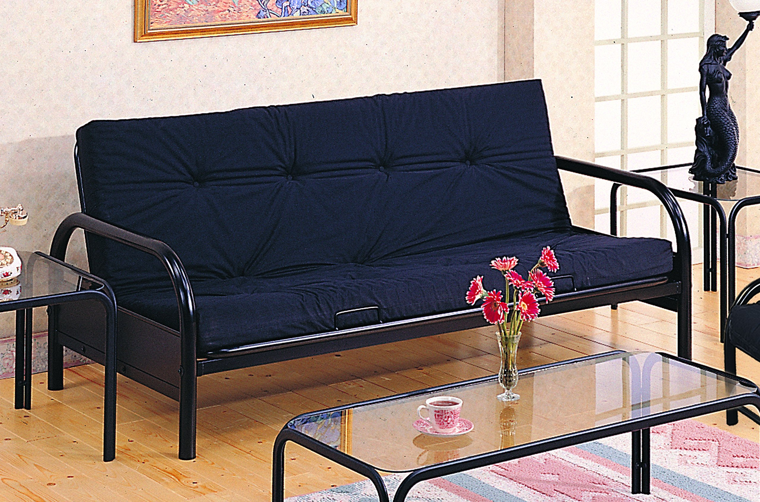 full mainstays metal replacement interior futon assembly black frame parts size instructions futons