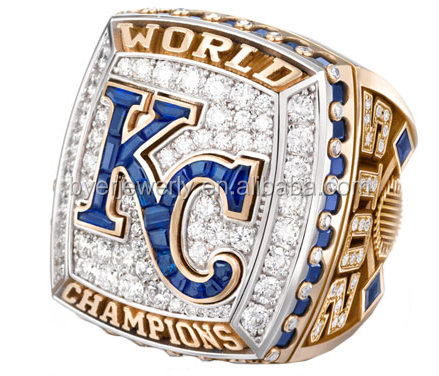 Custom 2015 Kansas City royals campeonato anillos de distintos agentes