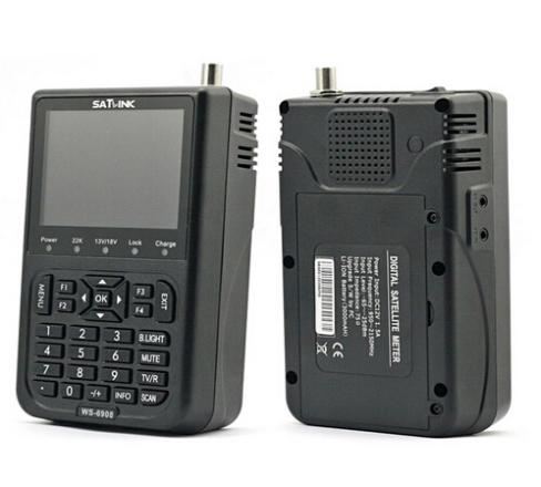 "SATLink WS-6908 3.5"" LCD DVB-S DiSEqC Ver1.0/1.2 FTA Data Satellite Finder Meter DHL free"
