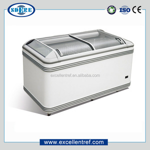Hot sale AHT paris freezer and DIB series small chest freezer island freezer for supermarket