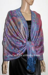 pashmina scarf 2011-2012 design with unique flowery pattern.JDC-203_A08#