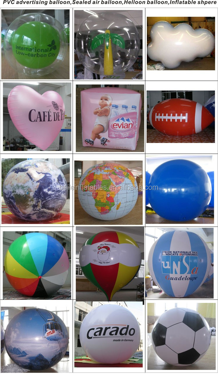 Customized advertising 36 inches Dia inflatable rugby ball