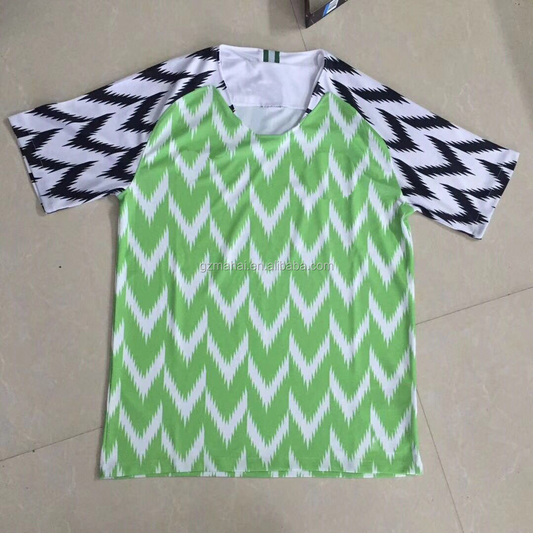National football jersey 2018 world best thailand quality soccer shirt factory wholesale