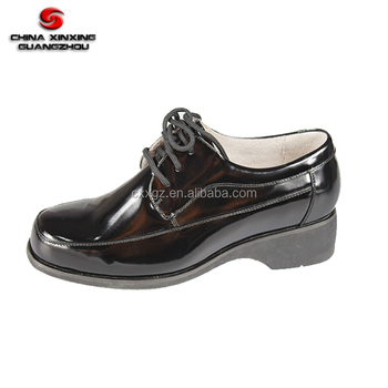 High Quality Police Army Genuine Leather Military Women Black Office