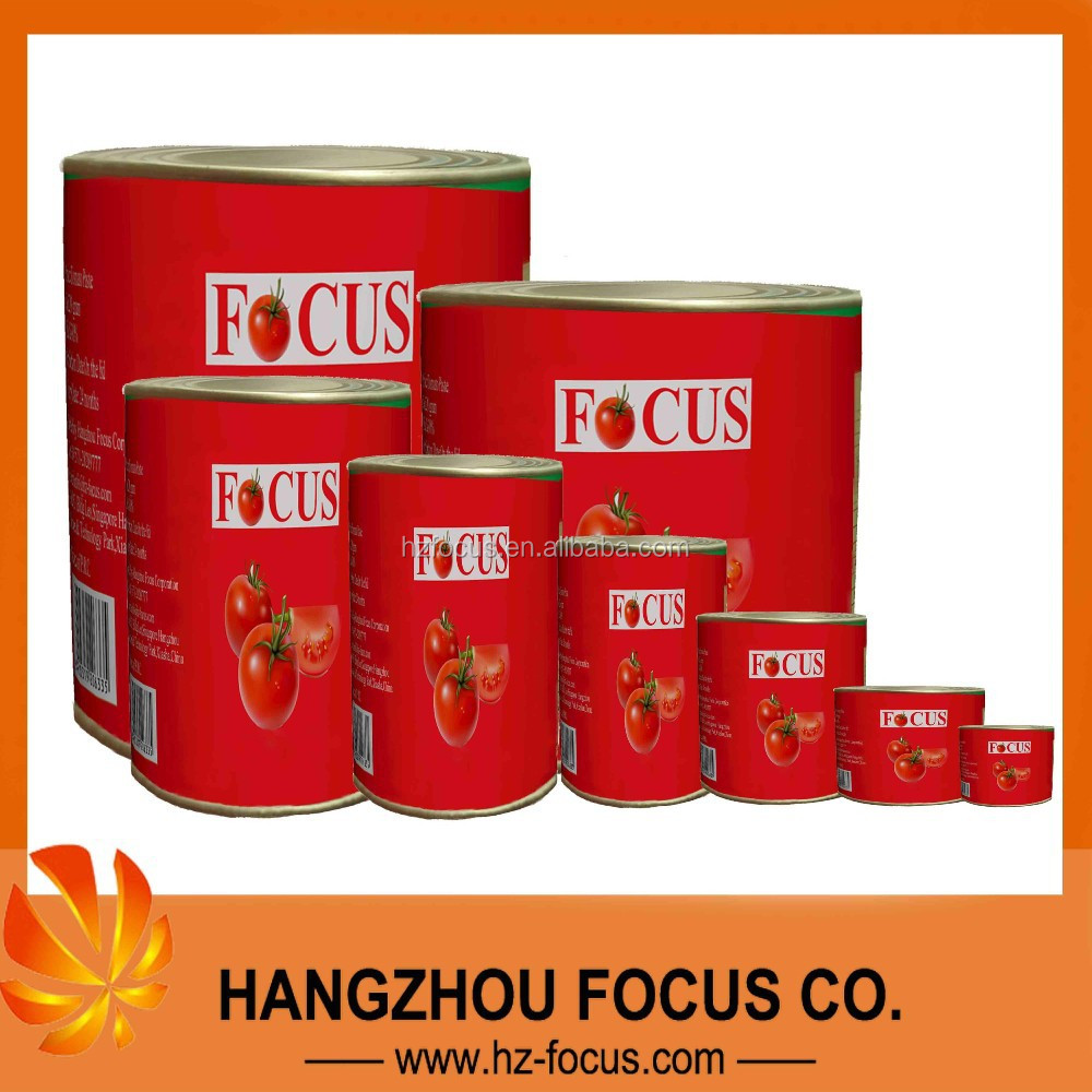 CANNED TOMATO PASTE factory 28%min canned tomatoes