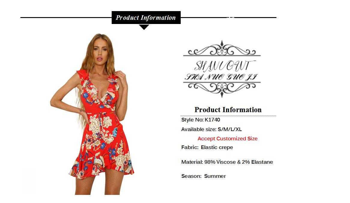 En gros casual mini boho imprimé robes femmes fille d'été 2019