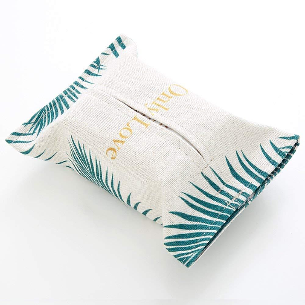 DHG Black and White Tone Golden Fabric Paper Towel Bag Towel Sets of Cotton Linen Paper Box Decoration Living Room Car Tissue Box