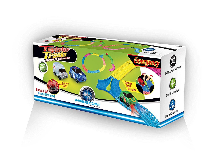 Mindscope Twister Tracks 255 BUMP & GO EMERGENCY SET Neon Glow in the Dark Series As Seen on TV Neo Tracks