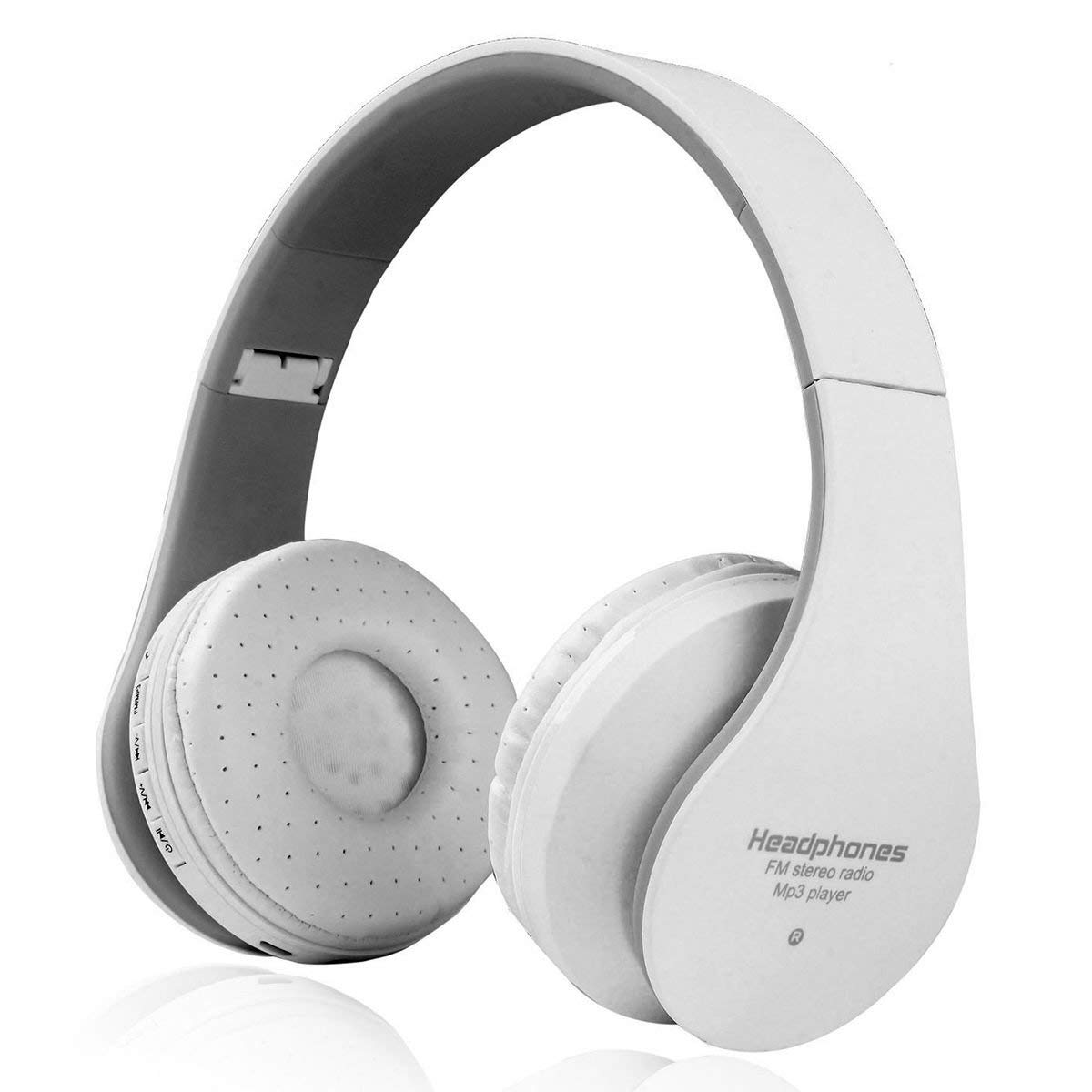SODIAL Wireless Headphones Bluetooth Stereo Bass Hifi Foldable Lightweight Wired and Wireless Headphones Support FM Radio, SD Card and Wired Modes Built in HD Mic