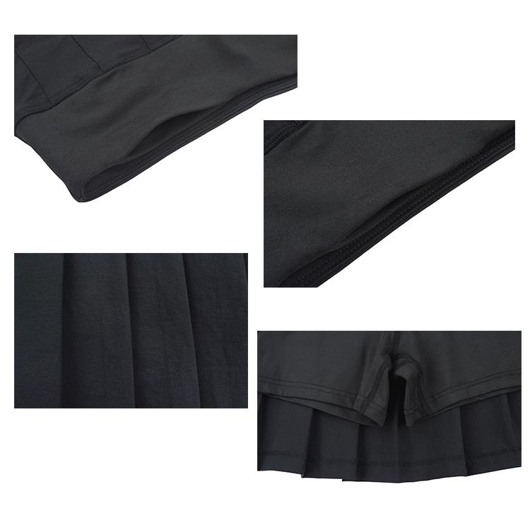 ファッションデザインスポーツ Skort レディースプリーツテニススカートポケット