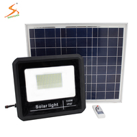 Dimmable motion high power rechargeable high lumens ip67 100w led solar floodlight