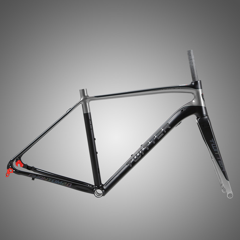 OEM bike parts factory endurance super light Gravel aluminum disc brake road bike frame, Blackred /blackwinered/ black / black-ti /blackyellow
