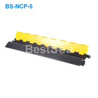 Hot Sale Rubber 1,2,3,4,5 Channels Cable Protector / Cable Ramp / Cable Cover