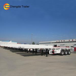 2axles/3axles 40ft/20ft flatbed/skeleton trailer with container lock for sale