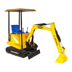 Amusement park toys electric kid excavator with music and videos