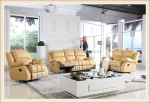 Living room furniture Classical model cheers furniture leather recliner sofa # 2723,Contemporary Sofa