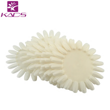 Retail 21tips pc 10pcs pack White Natural False Nail Art Tips Sticks Polish Display oval Practice
