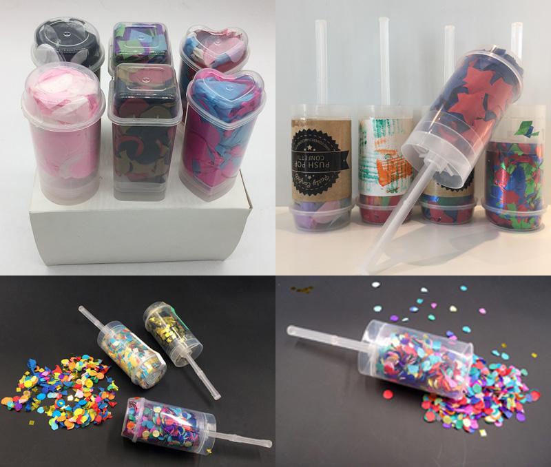 Pabrik Pesta Pernikahan Hati Confetti Pop Confetti Popper
