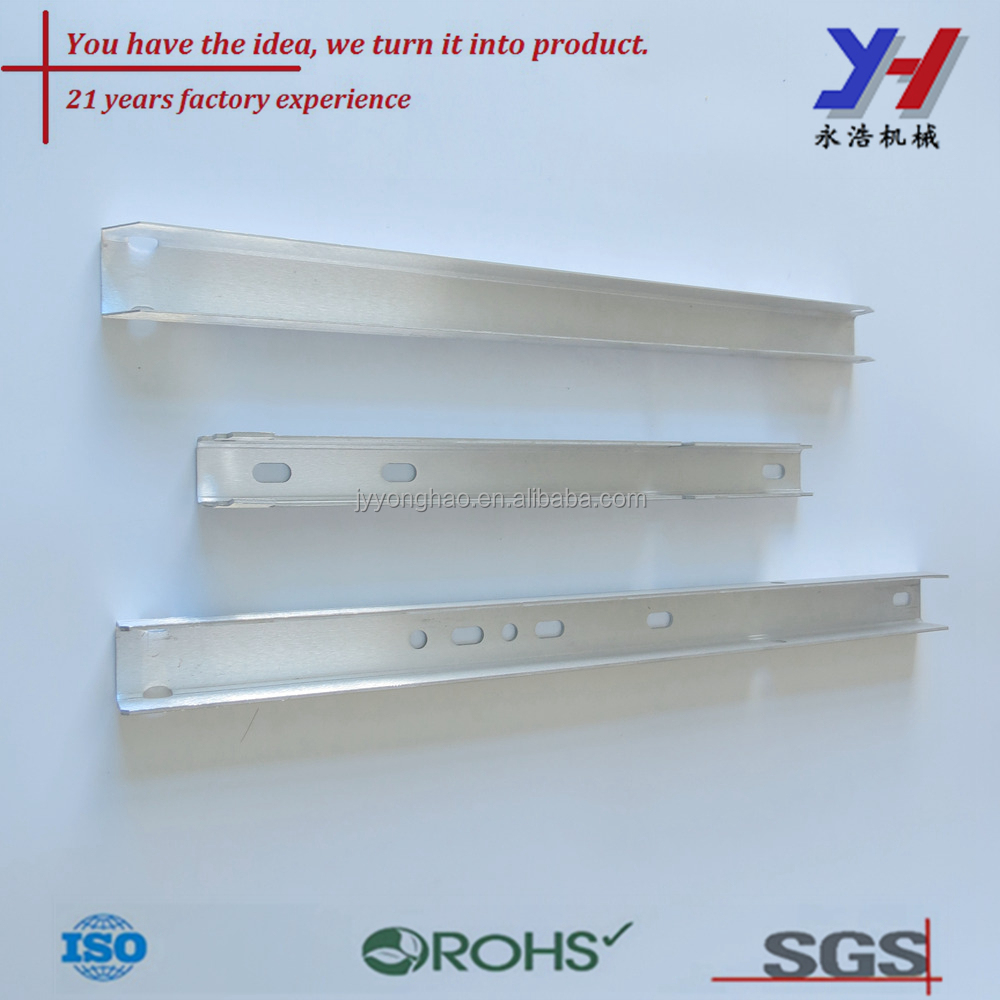 Custom Fabrication Of Stamped Holes Aluminum Profile Straight Flat ...