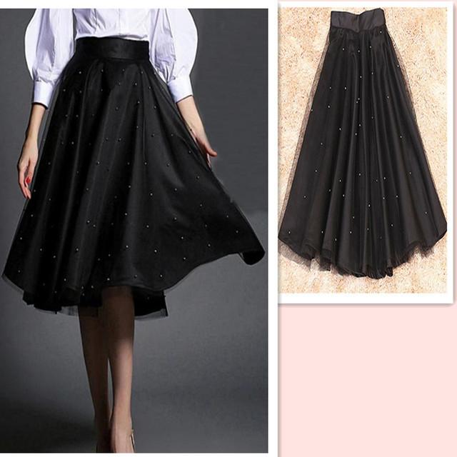 Long Black Skirt Plus Size 83