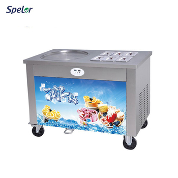 China Superior Quality CE Flat Pan Egypt RolledFry Ice Cream Machine