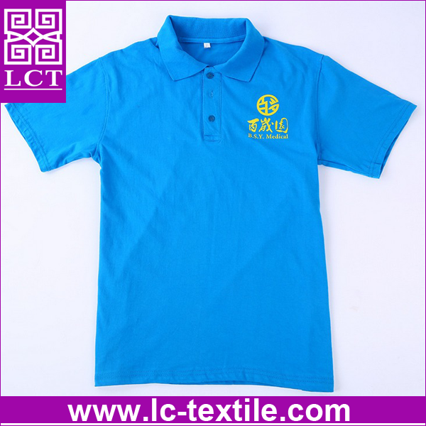 wholesale bulk OEM factory direct cheap price polyester cotton blend classic polo shirt with imprint for promotion(LCTT0329)