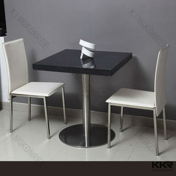 Luxury Acrylic Stone 2 Person Dining Table Set For