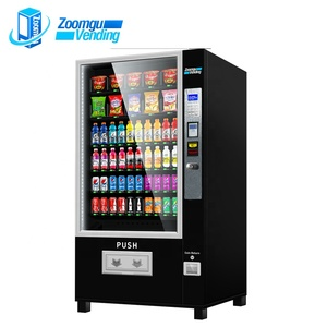 Zg combo refrigerated vending machine 6 trays with 60 selections