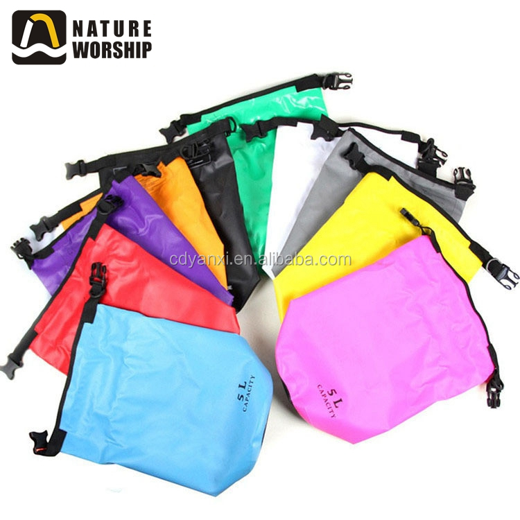 Wholesale Outdoor Plastic PVC Waterproof Ocean Pack Laundry Sling Dry Bag, Outdoor Waterproof Travel Bags